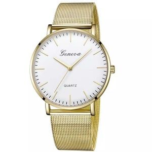 NEW Gold Lux Quartz Watch